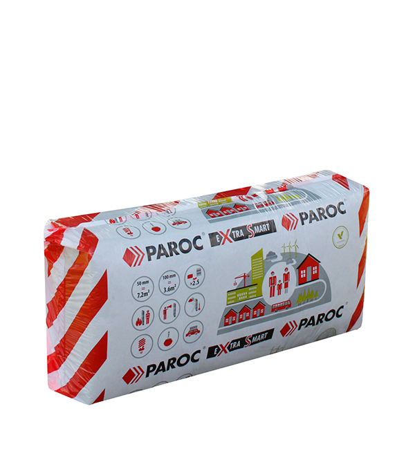 Утеплитель Paroc eXtra Smart 100х600х1200 мм 3,6 кв.м