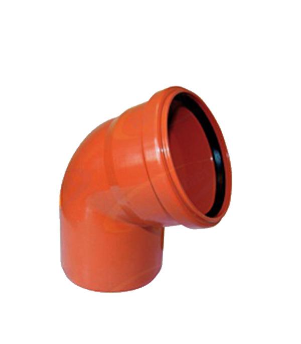 Отвод d110 мм 68° пластиковый для наружной канализации однораструбный