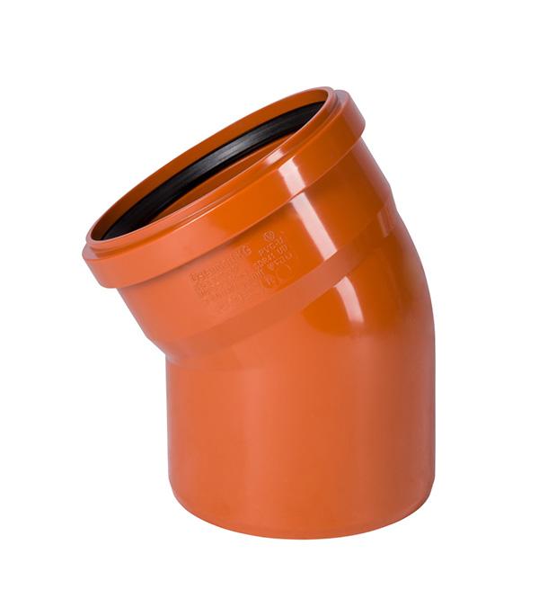 Отвод Ostendorf d160 мм 30° пластиковый для наружной канализации однораструбный