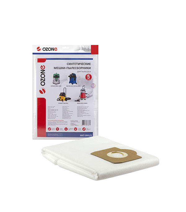 Мешок для пылесоса OZONE (MXT-3041/5) 36 л синтетическая ткань (5 шт.) цена 2017