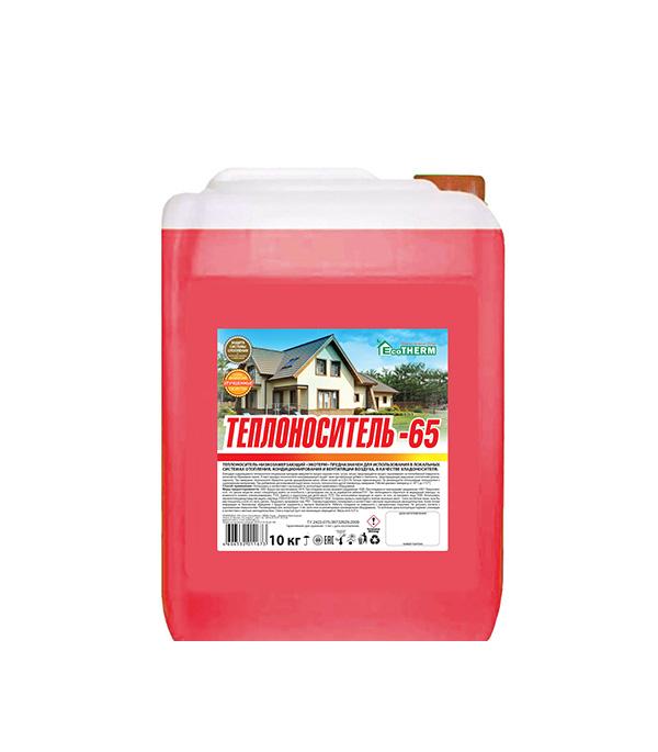 Теплоноситель EcoTherm -65C 10кг теплоноситель обнинскоргсинтез для систем отопления thermagent технология уюта 65 10кг