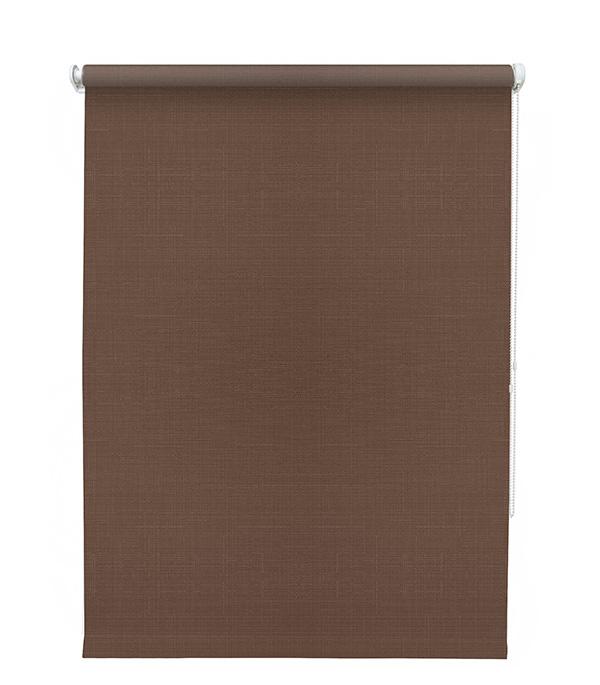 Штора рулонная Шантунг 140х175 см шоколад комплект штор параскева шоколад 200х270 2шт подхват 2шт шоколадный кремовый