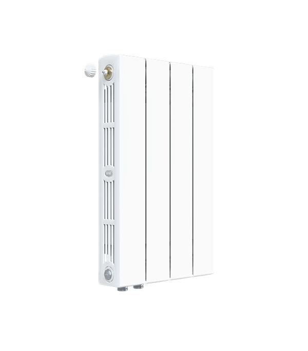 """Радиатор биметаллический Rifar Supremo Ventil SVR 500 мм 4 секции 3/4"""" нижнее правое подключение белый"""