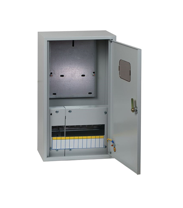 Щиток навесной ЩУРн для 12 модулей и под 1ф счетчик металлический IP31