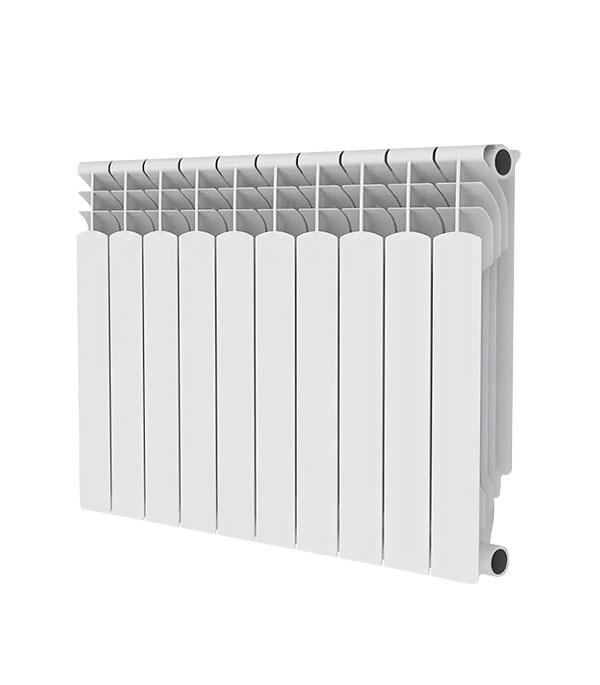 Радиатор биметаллический Royal Thermo MONOBLOCK 500 мм 10 секций 1 боковое подключение белый биметаллический радиатор rifar рифар b 500 нп 10 сек лев кол во секций 10 мощность вт 2040 подключение левое