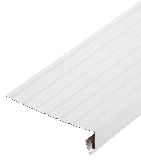 Ветровая (карнизная) доска Vinyl-On 3050 мм белая сайдинг vinyl on ветровая карнизная доска 3660 мм кофе