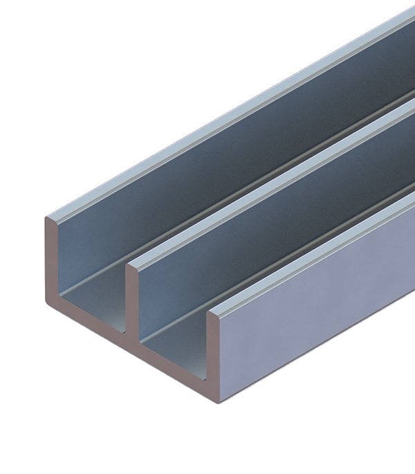 Профиль алюминиевый Ш-образный 1,2х15,6х6,8х2000 мм