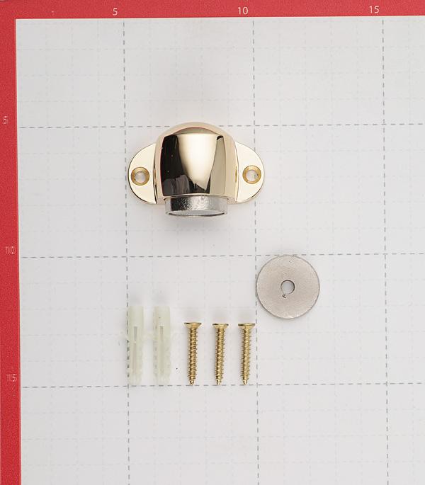 Упор дверной магнитный Palladium Стопор 02 - М PB (латунь)