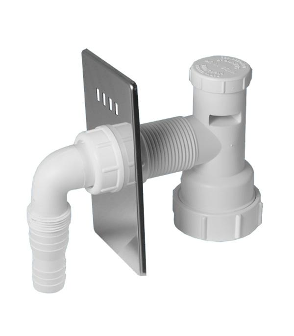 Адаптер McAlpine для подключения бытовой техники с вентиляционным клапаном 32 мм хром
