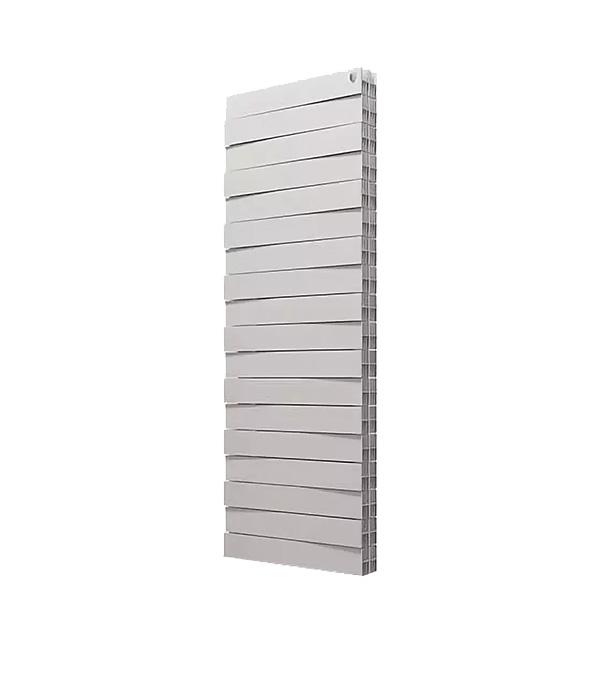 Радиатор биметаллический Royal Thermo Piano Forte Tower 500 мм 18 секций 1 нижнее подключение 1440х591 мм белый биметаллический радиатор rifar рифар b 500 нп 10 сек лев кол во секций 10 мощность вт 2040 подключение левое