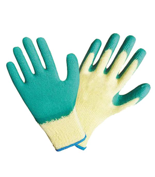 Хлопчатобумажные перчатки Комфорт с латексным покрытием повышенная прочность стоимость