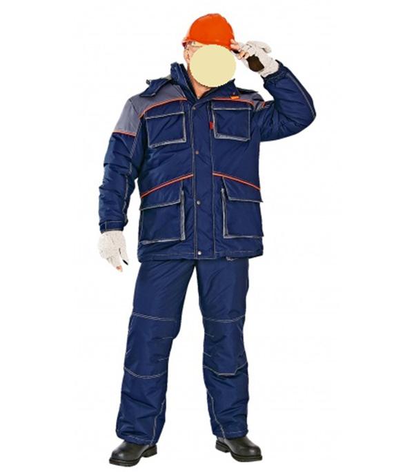 Фото - Костюм рабочий утепленный Спец 48-50 рост 182-188 см цвет синий/красный брюки мужские oodji lab цвет темно синий 2l100082m 44215n 7900n размер 42 182 50 182