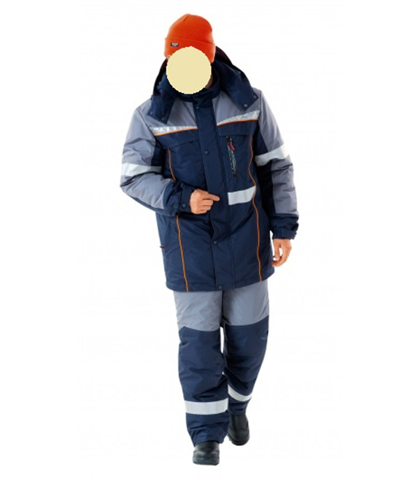все цены на Куртка СПЕЦ утепленная темно-синяя с серым размер 48-50 рост 170-176 онлайн