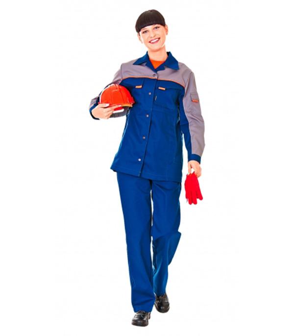 Костюм ЛЕДИ СПЕЦ-1 темно-синий с серым размер 48-50 рост 170-176 куртка джинсовая женская oodji ultra цвет темно синий 11109031 46654 7900w размер 44 50 170