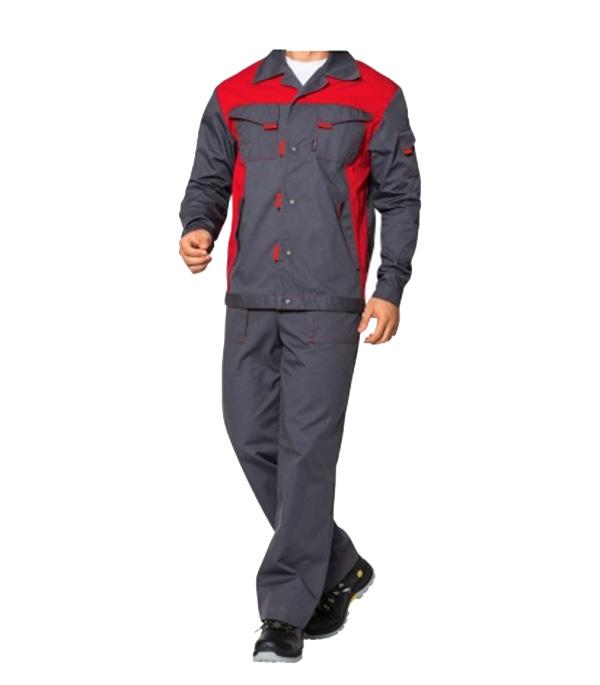 Костюм СПЕЦ-1 серый с красным размер 52-54 рост 182-188 стоимость