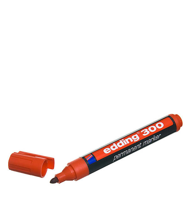 цена на Перманентный маркер Edding 300 красный 1.5-3 мм