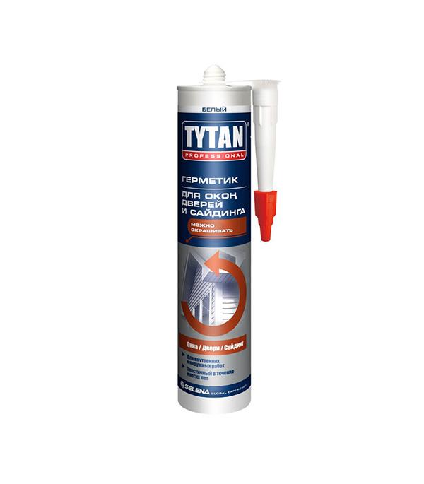 Герметик силиконакриловый для окон, дверей и сайдинга Tytan белый 310 мл