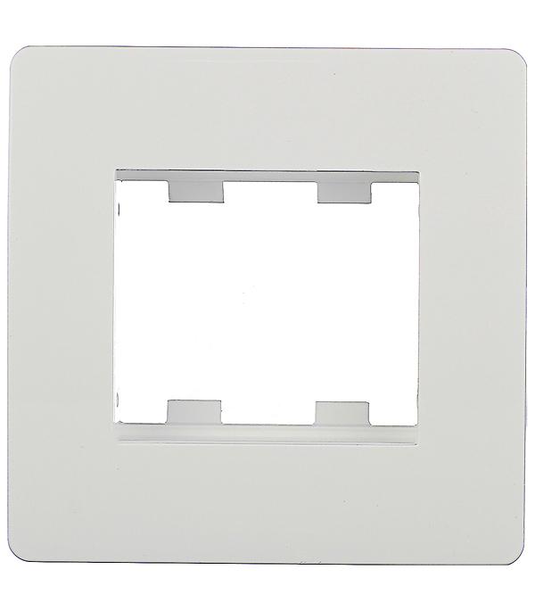 Рамка в сборе Viva с суппортом для кабель-канала ДКС под 2 модуля белая дкс dkc viva бел выключатель однополюсный 2мод 45021