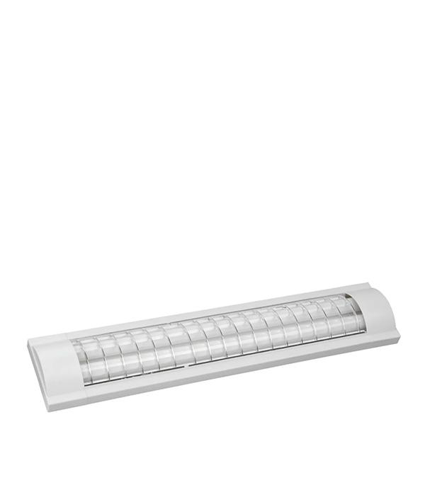 Светильник люминесцентный IEK ЛПО3017 2х18 ЭПРА без стекла с решеткой эпра osram qt fit8 2х18 220 240