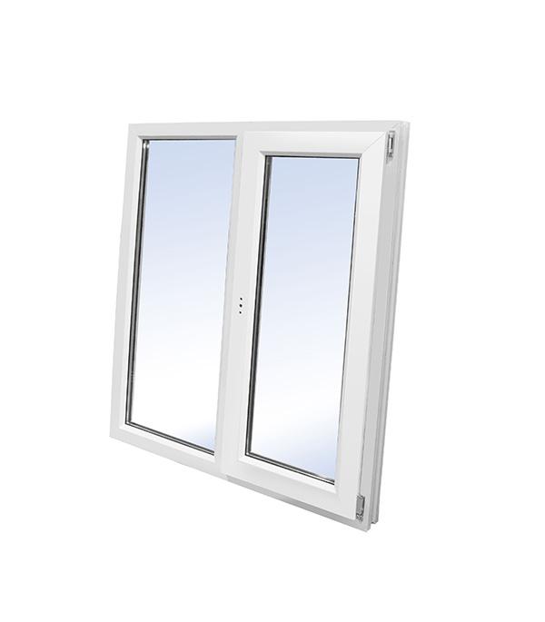 Окно пластиковое VEKA WHS Halo 1440х1450 мм 2 створки левая глухая правая поворотно-откидная энергосберегающее фото
