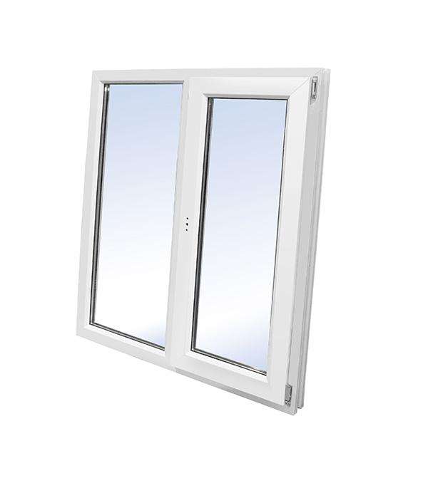 Окно пластиковое VEKA WHS Halo 1440х1160 мм 2 створки левая глухая правая поворотно-откидная энергосберегающее фото