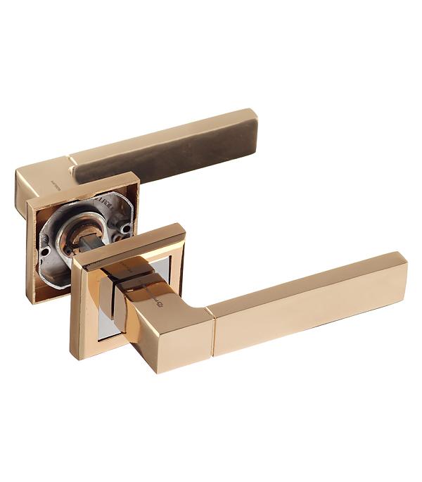 Ручка дверная Palladium City A Dakota GP квадратная розетка (золото)