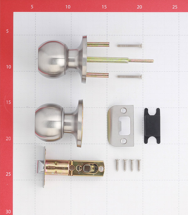 Ручка-защелка ФЗ 6072 SN PS без ключа и фиксатора (матовый никель)