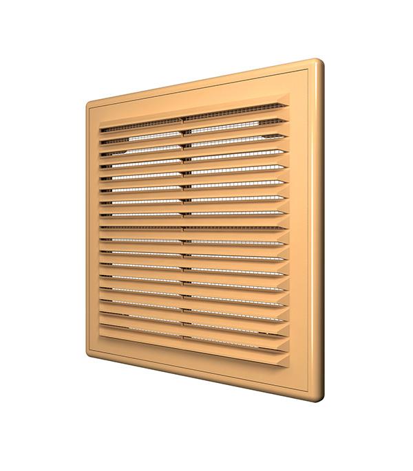 Решетка вентиляционная пластиковая приточно-вытяжная ERA 150х150 мм с сеткой бежевая