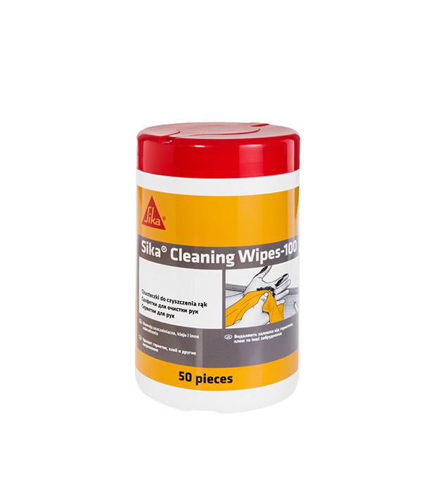 Салфетки очищающие Sika Cleaning Wipes-100 50 шт фото