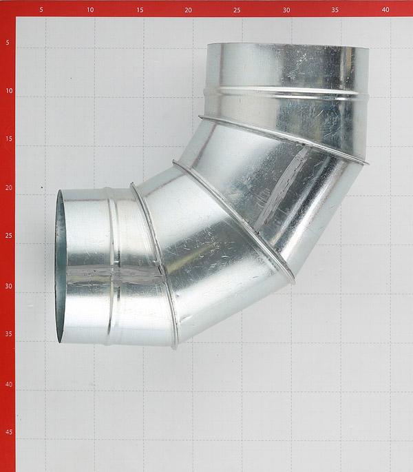 Отвод для круглых воздуховодов d160 мм 90° оцинкованный фото