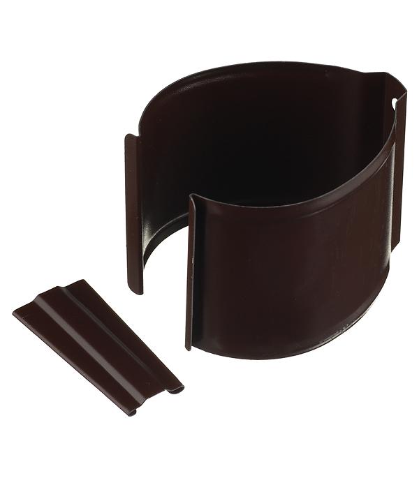 Кронштейн хомут трубы на кирпичную стену металлический с крепежом Grand Line d90 мм коричневый кронштейн крюк желоба металлический 70 мм коричневый grand line