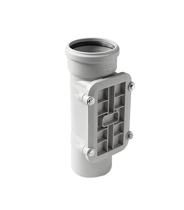 Ревизия Polytron Stilte Plus d110 мм пластиковая шумопоглощающая с крышкой для внутренней канализации