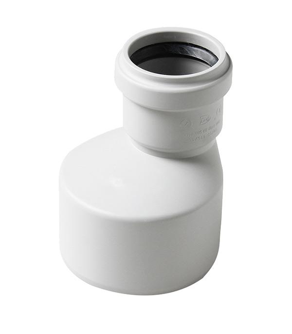 Переходник Polytron Stilte Plus d110х58 мм пластиковый эксцентрический шумопоглощающий для внутренней канализации