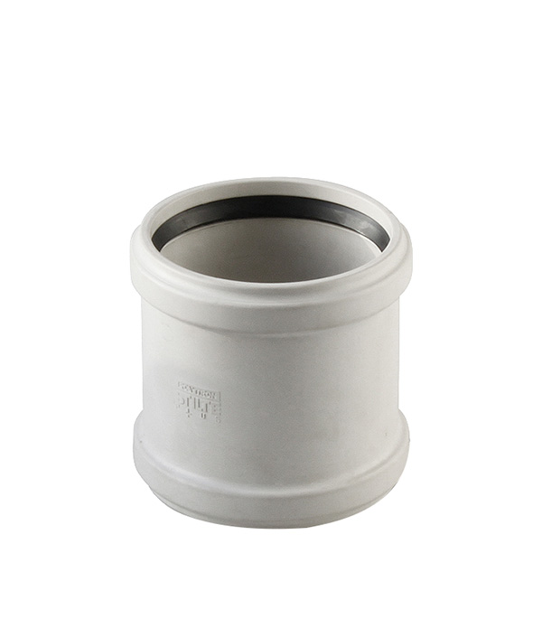 Муфта Polytron Stilte Plus d110 мм пластиковая ремонтная шумопоглощающая для внутренней канализации фото