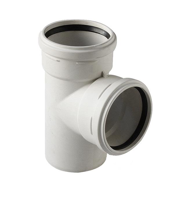Тройник Polytron Stilte Plus d110 мм 87° пластиковый шумопоглощающий для внутренней канализации
