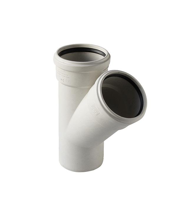 Тройник Polytron Stilte Plus d58 мм 45° пластиковый шумопоглощающий для внутренней канализации