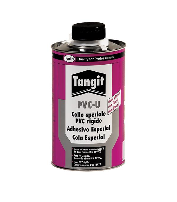 Клей для труб из ПВХ Tangit PVC-U прозрачный 1 кг с кистью.