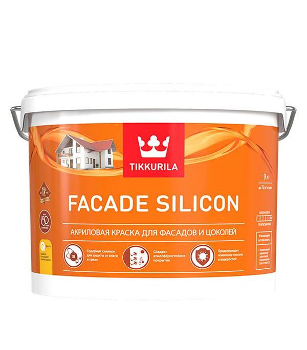 Краска водно-дисперсионная фасадная Tikkurila Facade Silicon белая основа VVA 9 л фото