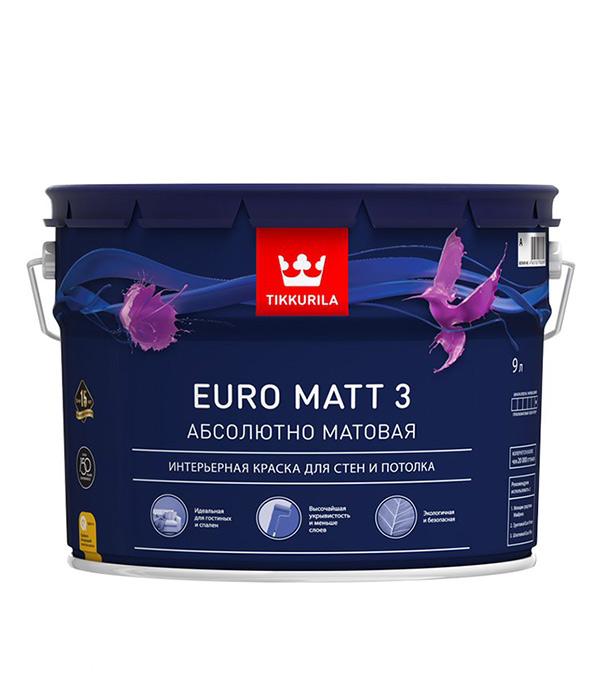 Краска водно-дисперсионная интерьерная Tikkurila EURO MATT 3 основа C 9 л фото