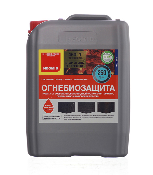 купить Антисептик Neomid 450 огнебиозащитный I группа красный 5 кг онлайн