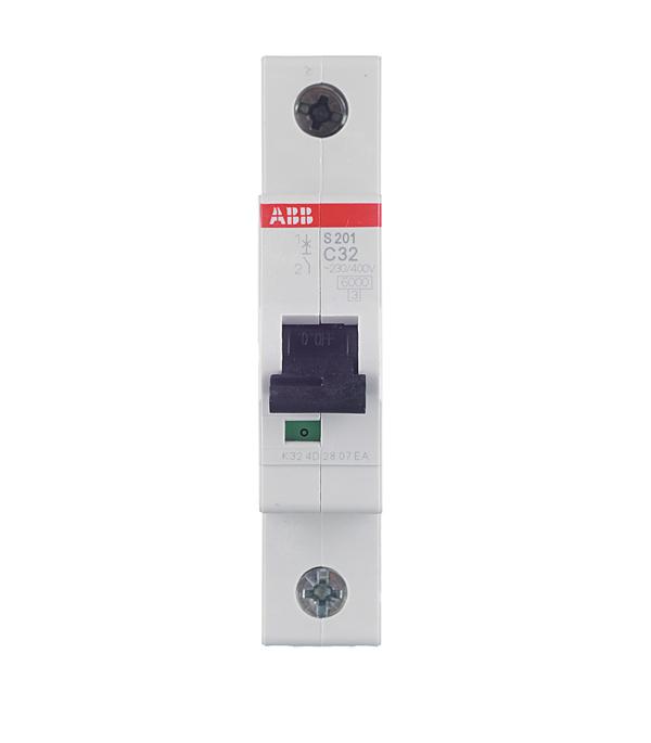 Автомат ABB S201 (2CDS251001R0324) 1P 32 А тип C 6 кА 230 В на DIN-рейку