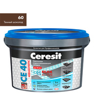 Затирка Церезит СЕ 40 aquastatic №60 темный шоколад 2 кг