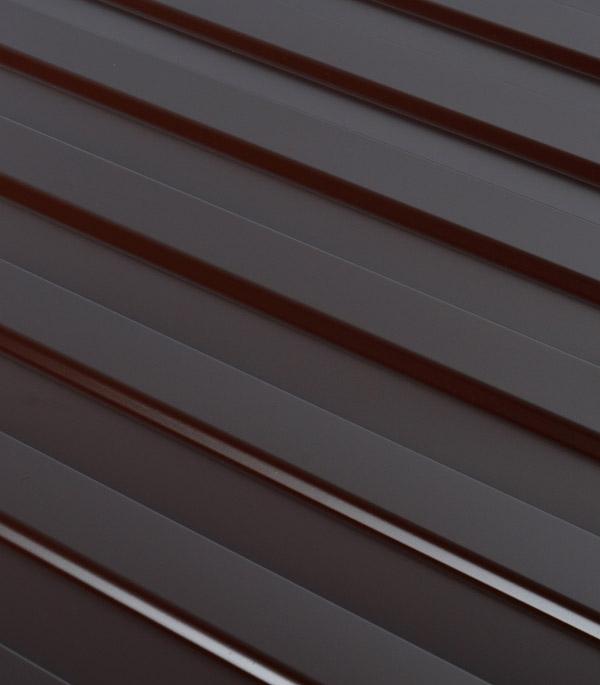 Профнастил С8 1,2х2 м 0,33 мм коричневый RAL 8017