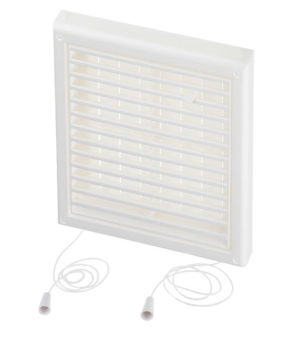 Решетка вентиляционная пластиковая приточно-вытяжная Вентс 186х186 мм с сеткой регулируемая белая