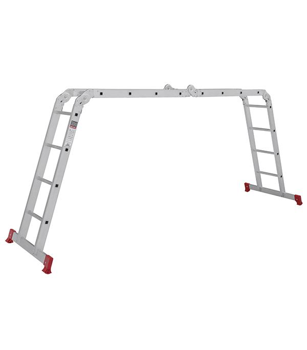 Лестница трансформер Новая высота четырехсекционная алюминиевая 4х4 бытовая