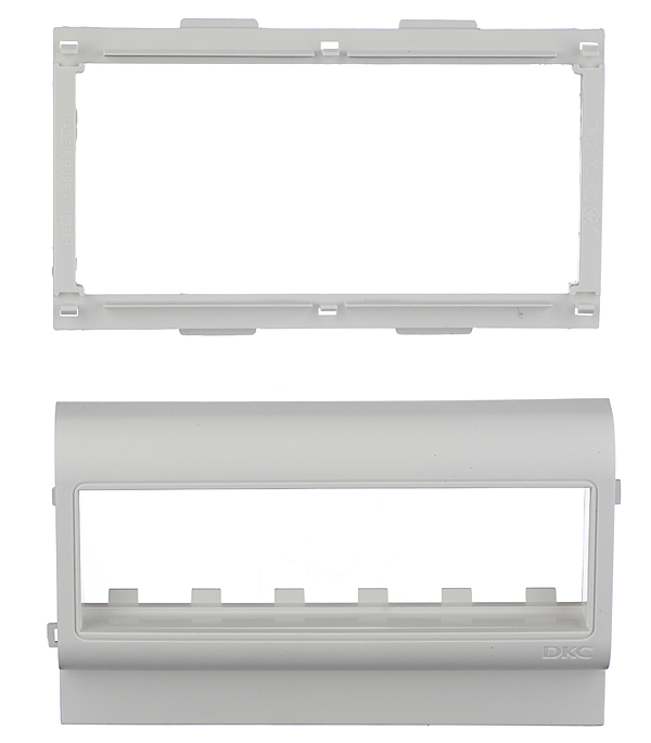 Рамка-суппорт для кабель-канала ДКС под 6 модулей 100х60 мм белая дкс dkc viva бел выключатель однополюсный 2мод 45021