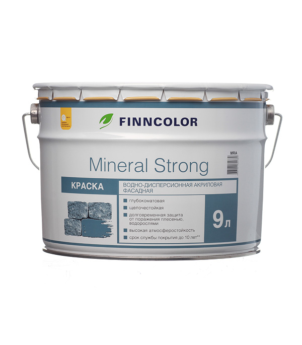 цена на Краска водно-дисперсионная фасадная Finncolor Mineral Strong белая основа LAP/MRA 9 л
