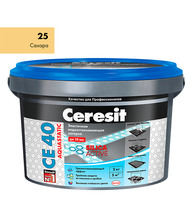 Затирка Церезит СЕ 40 aquastatic №25 сахара 2 кг