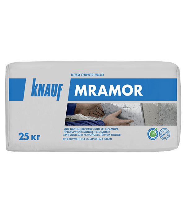цена на Клей для плитки, керамогранита, мозаики и камня Knauf Мрамор белый (класс С2) 25 кг