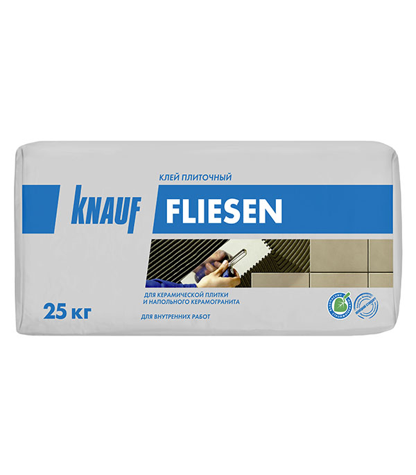цена на Клей для плитки Knauf Флизен серый (класс С0) 25 кг